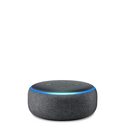 Fotografia do Amazon Echo Dot.