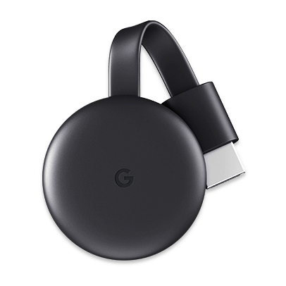 Fotografia do Google Chromecast.