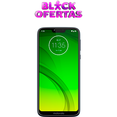 Imagem do Moto G7 Power com selo Black Ofertas