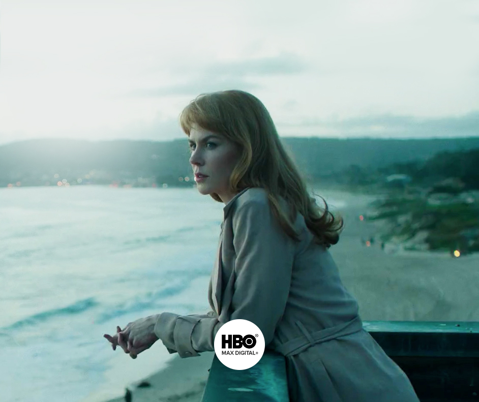Imagem da série Big Little Lies, com o logo de HBO Max Digital.