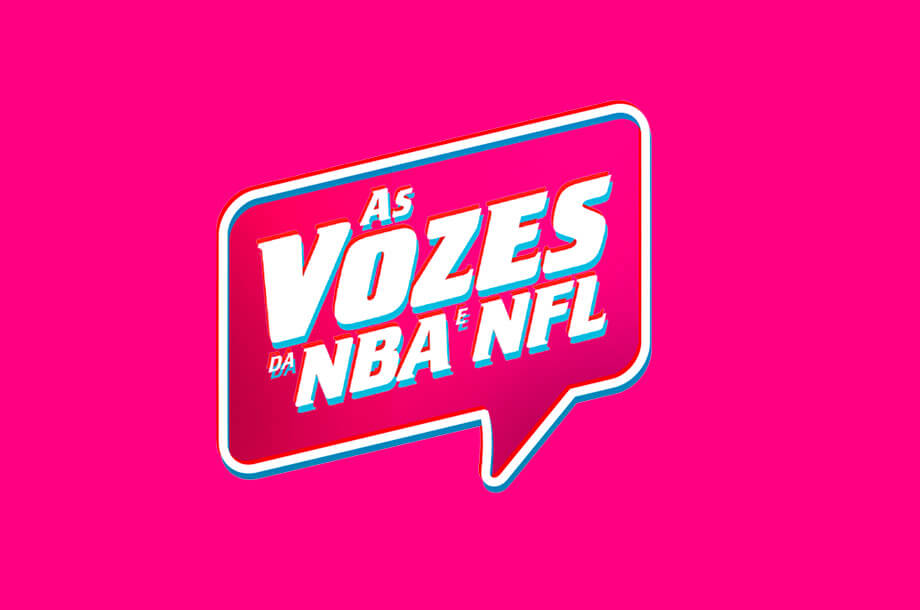 Logo de As Vozes da NBA e NFL.