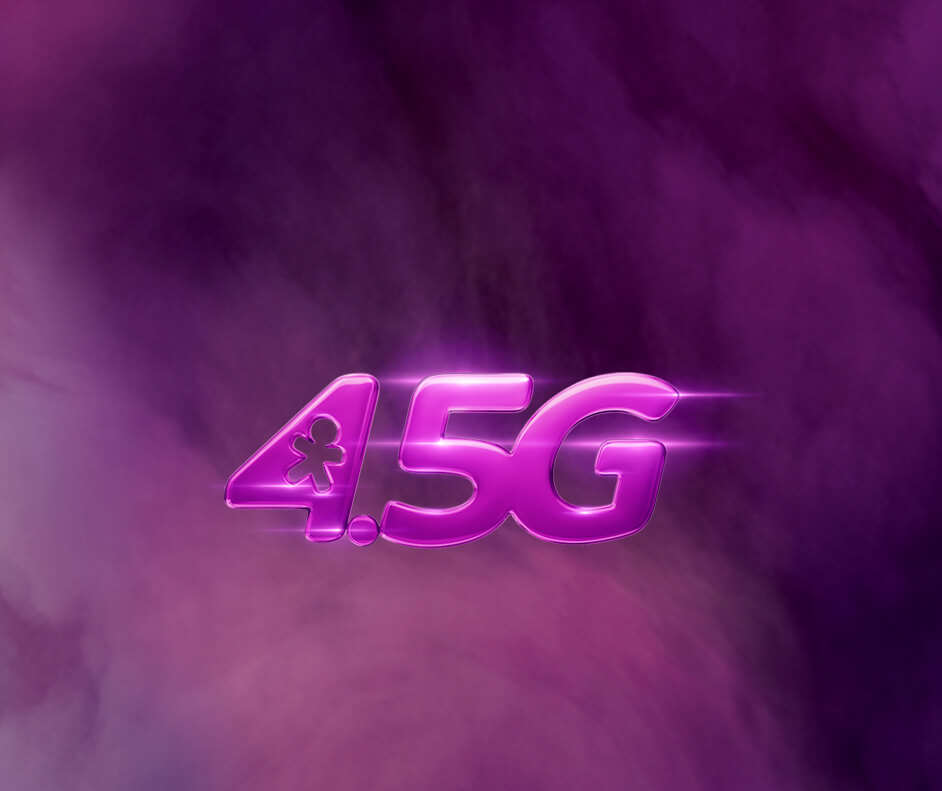 Logo do 4.5G da Vivo.