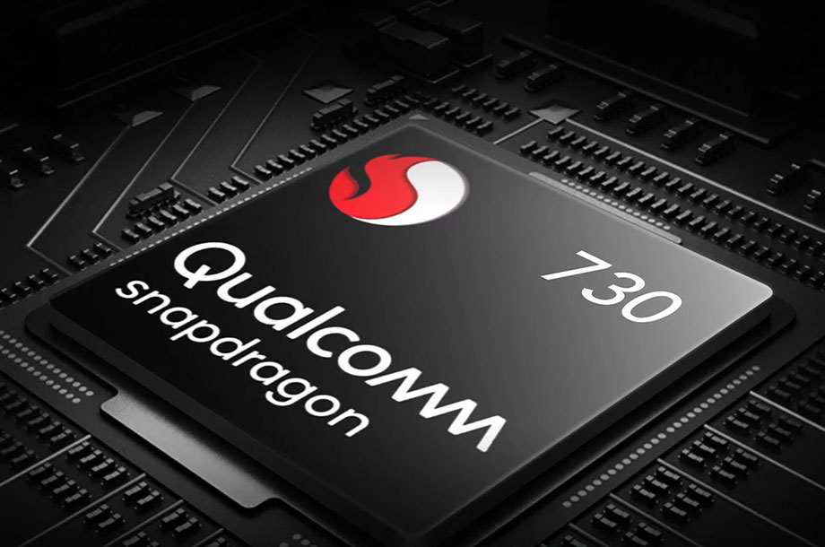 Imagem do chip qualcomm snapdragon 730.
