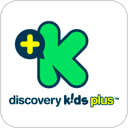 Logo do aplicativo Discovery Kids Plus