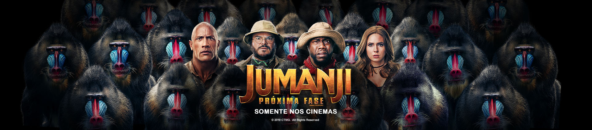 Imagem do filme Jumanji com o logo do filme